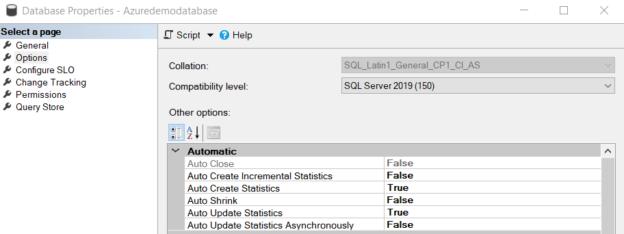 Azure SQL Database options
