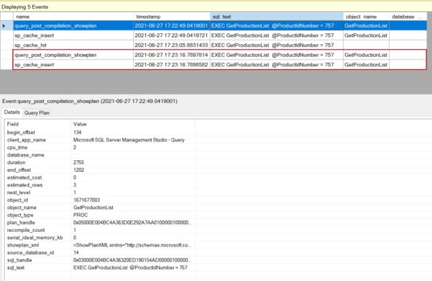 sp_cache_insert event