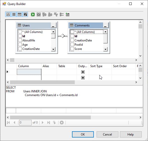 SSIS OLE DB Destination SQL command Query builder