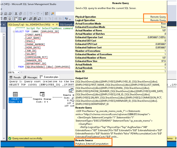 View detailed execution plan in SSMS