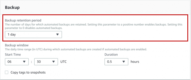AWS RDS SQL Server - Automated backups