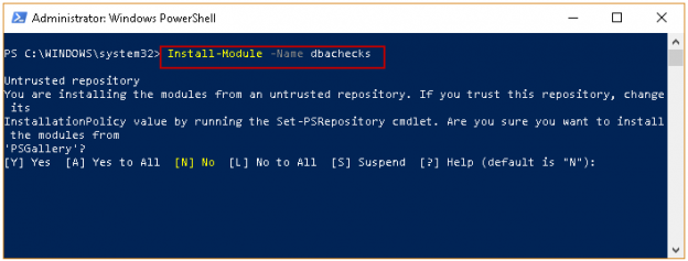 PowerShell SQL Server module DBAChecks
