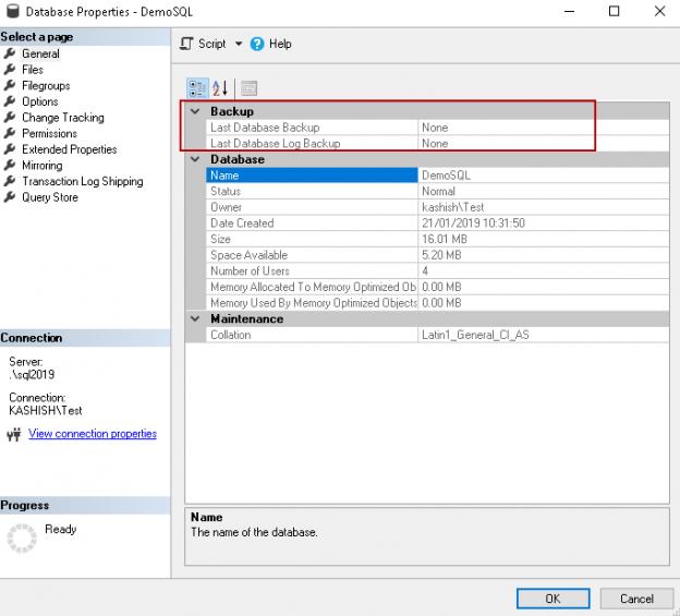 SQL FILESTREAM demo backup