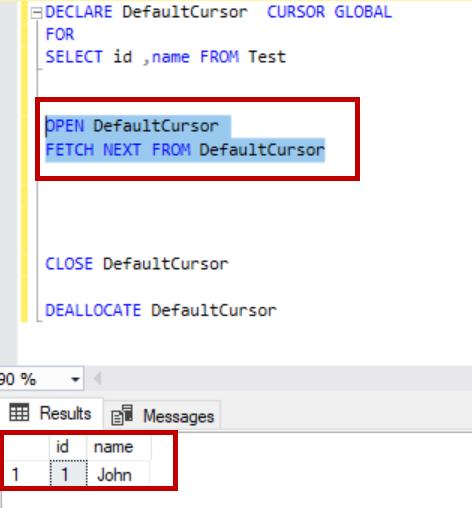 SQL Server cursor attributes