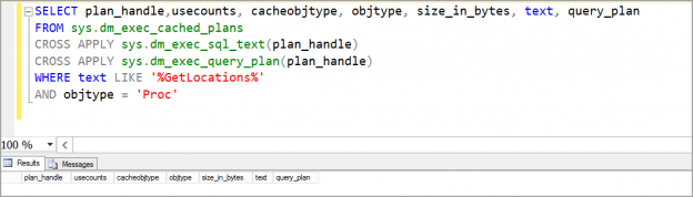 EXEC SQL example with recompile