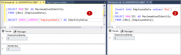 SQL IDENT_CURRENT() function