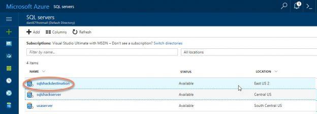 SQL Server in Azure Portal