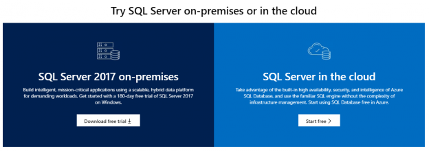 SQL Server on-premises or SQL Cloud
