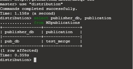 SQL Server Merge Replication - List Publisher databases with Publication.