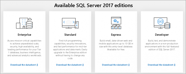 different SQL Server editions