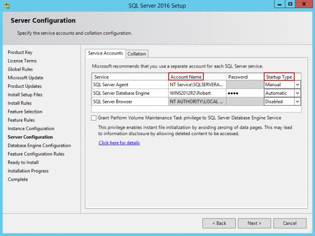 SQL Server 2016 setup