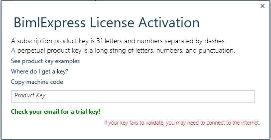 BimlExpress product key input form