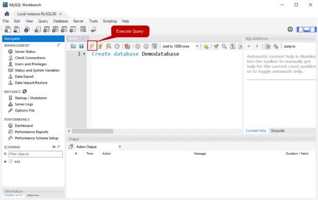 Query editor window