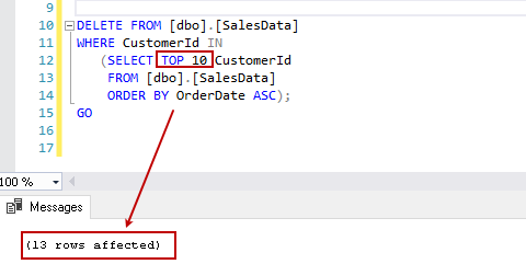 SQL Delete statement