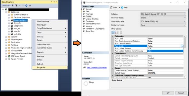 SQL Server Auto Shrink option