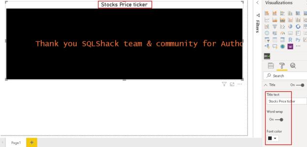Title in Power BI Desktop