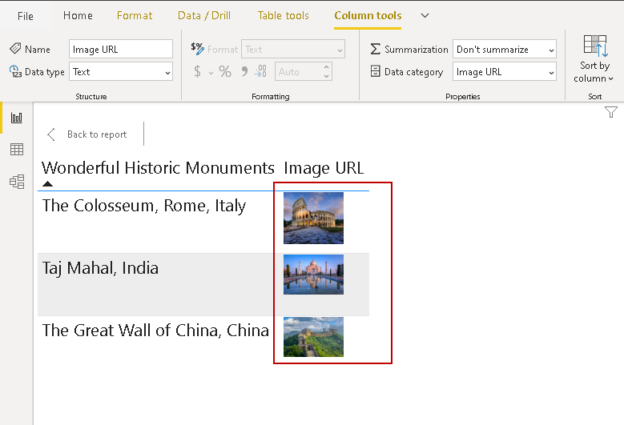 Data Category to Image URL