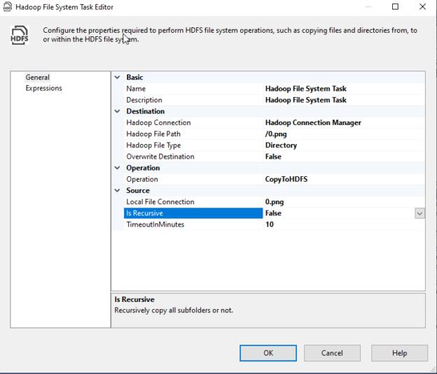 Configuring CopyToHDFS operation