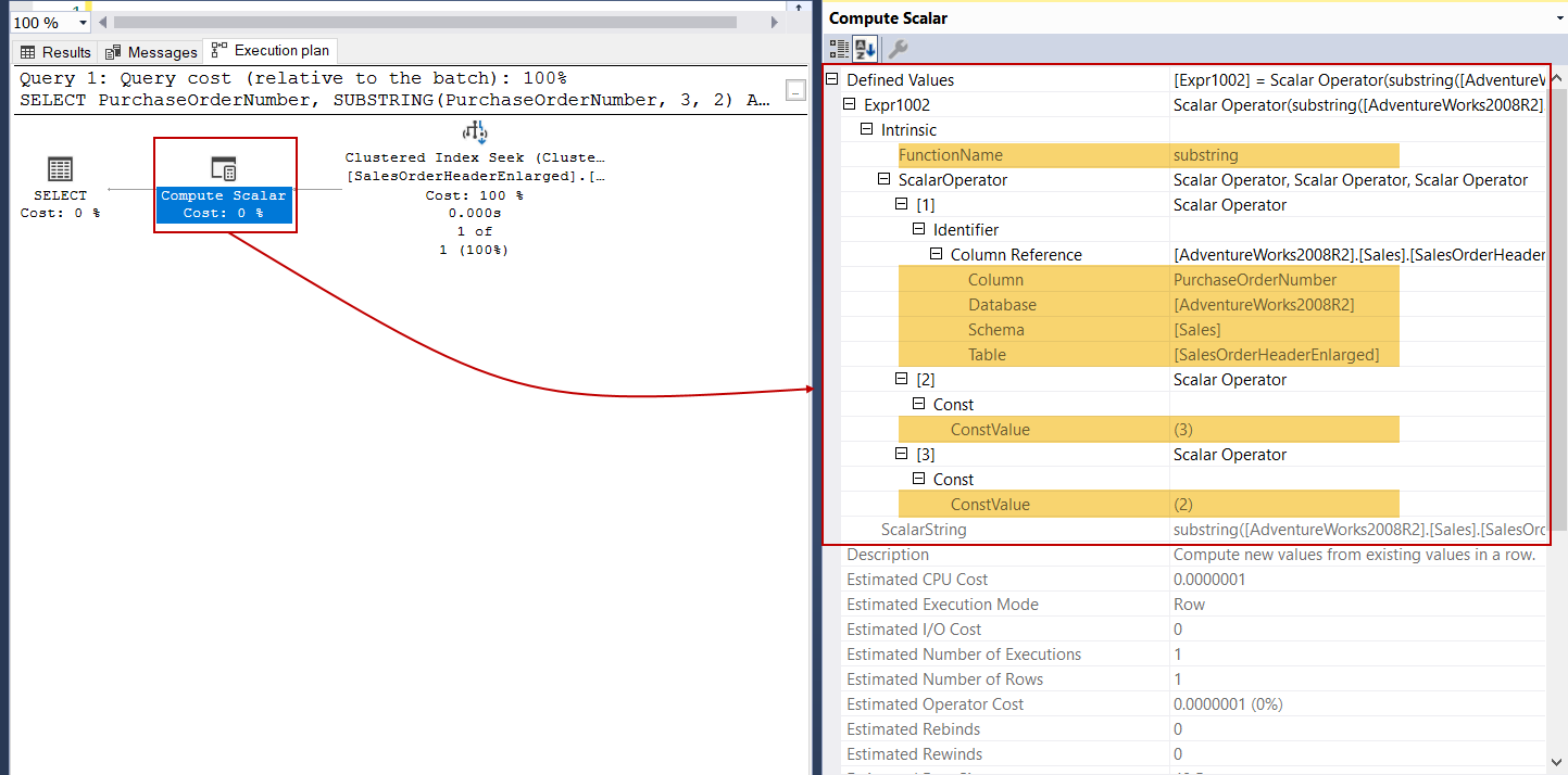 SQL SUBSTRING function and its performance tips