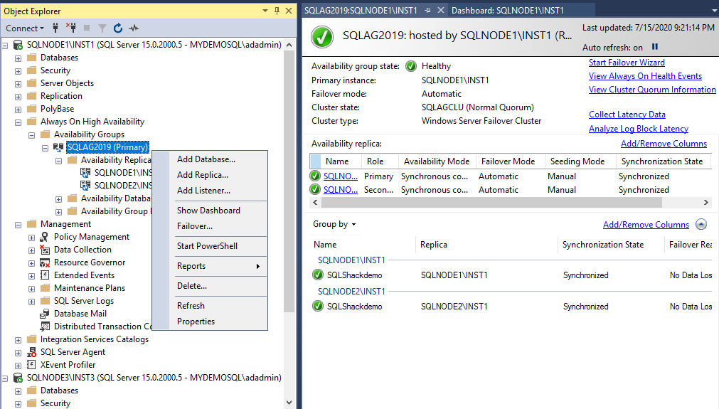 Add a new node into existing SQL Server Always On Availability Groups
