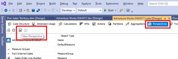 Creating OLAP Perspectives