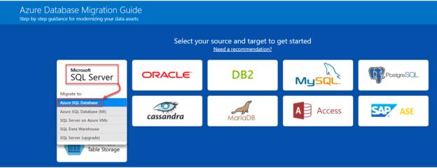 Migrate a SQL database