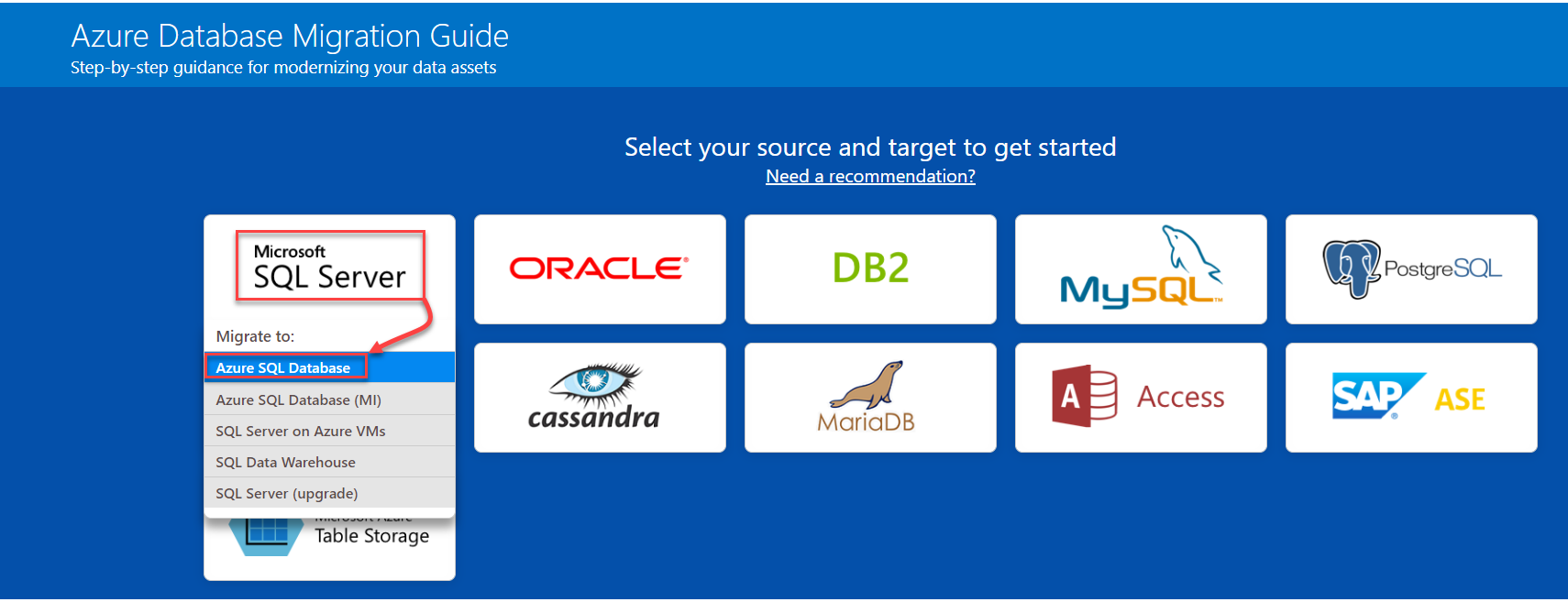 Migrando cargas de trabalho SQL para o Microsoft Azure: Ferramentas de Orientação e Avaliação 1
