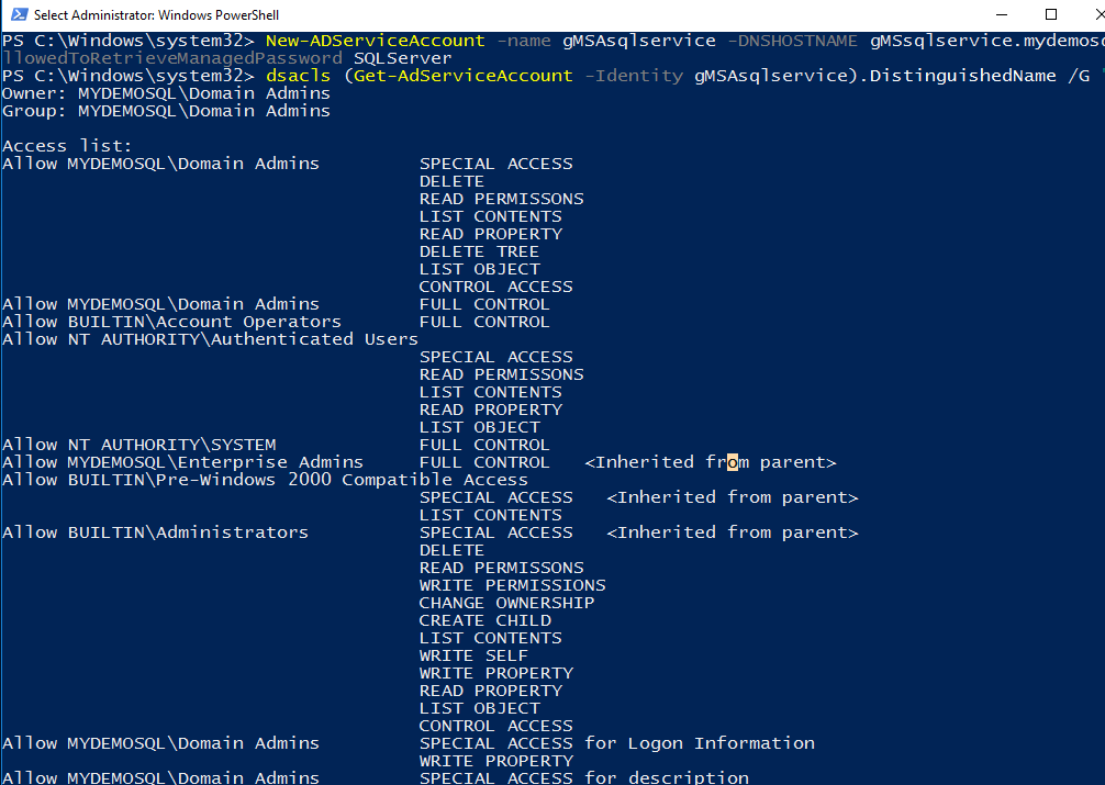 Configure Managed Service Accounts for SQL Server Always On Availability Groups