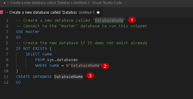Visual Studio Code Snippet example