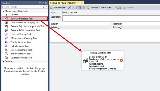 Backup database task