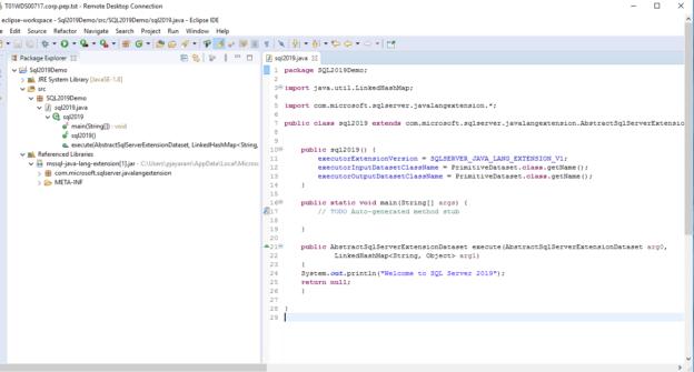 SQL Server Java file