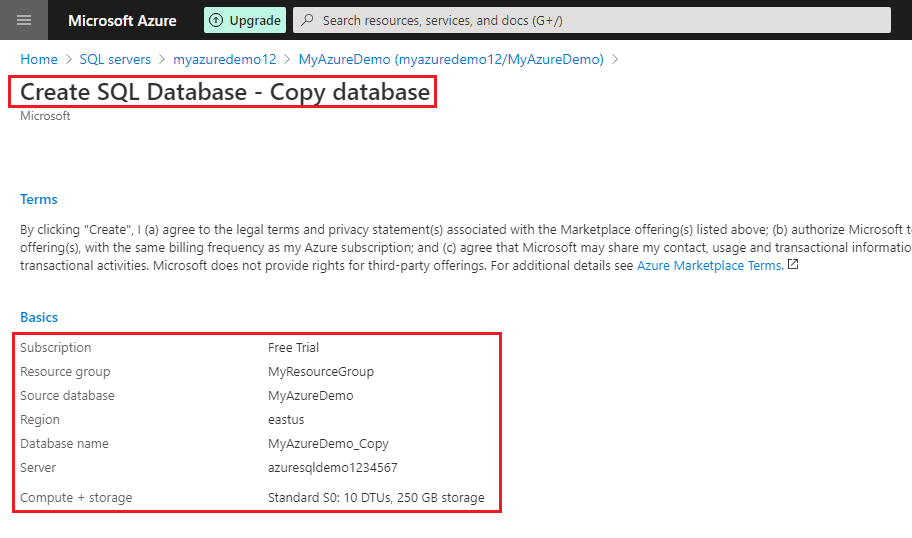 Four different methods to copy your Azure SQL database