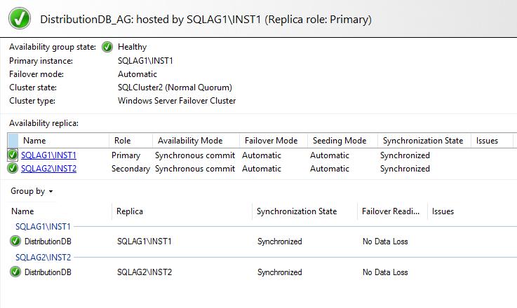Configuring SQL Server replication for distribution databases