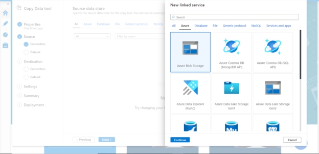 Azure Blob Storage - Data Source