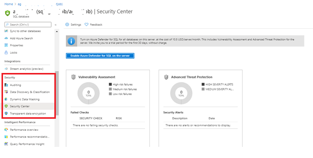 Database auditing: Security feature in Azure SQL Database
