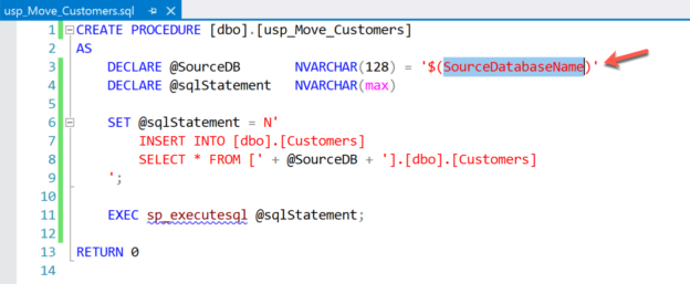 Stored Procedure for moving data