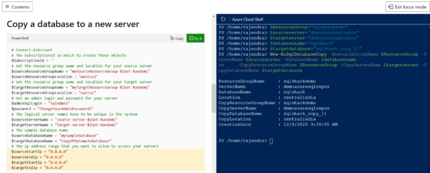 PowerShell to copy a database to a new server,