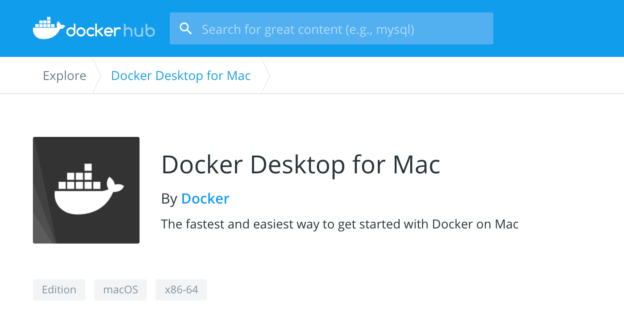 Docker Desktop for Mac Download