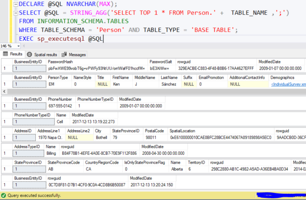 Executing a batch of SQL commands