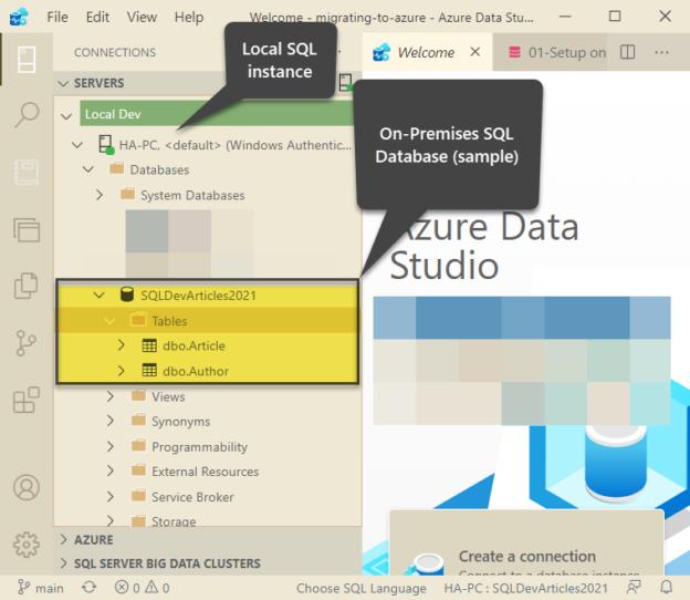 On-Premises SQL Database SQLDevArticles2021