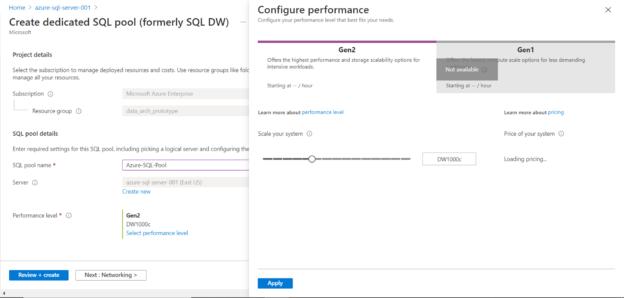 SQL Pool Performance Capacity