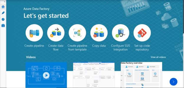Data Factory portal on Azure