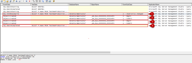 Use SQL Profiller to track SQL query recompilations