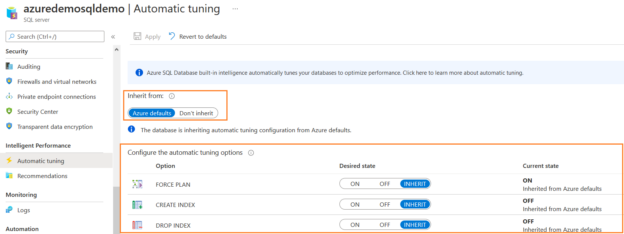 automatic tuning options